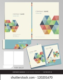 Corporate Identity Business Set. Folder Design Template. Vector illustration.