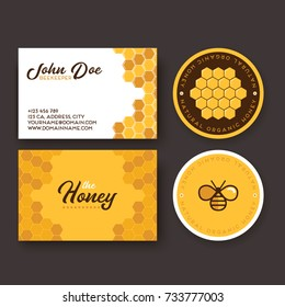 Corporate identity for a company producing bee honey