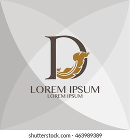 Corporate Identity D Branding  Thai art style vector logo design template