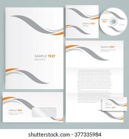 Corporate identity design template curves