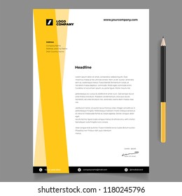 Corporate identity design template letterhead and pen mockup simple minimalist