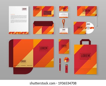Corporate identity design template. Vector illustration