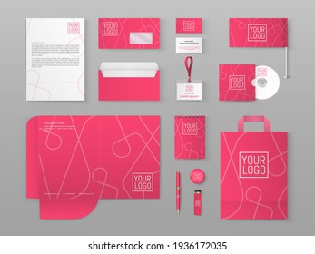 Corporate identity design. Vector illustration