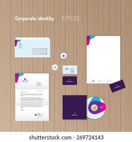 Corporate identity kit. Stationery for your company. Geometric symbol.