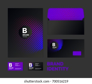 Corporate identity. The layout templates for your design. Vector illustration.
