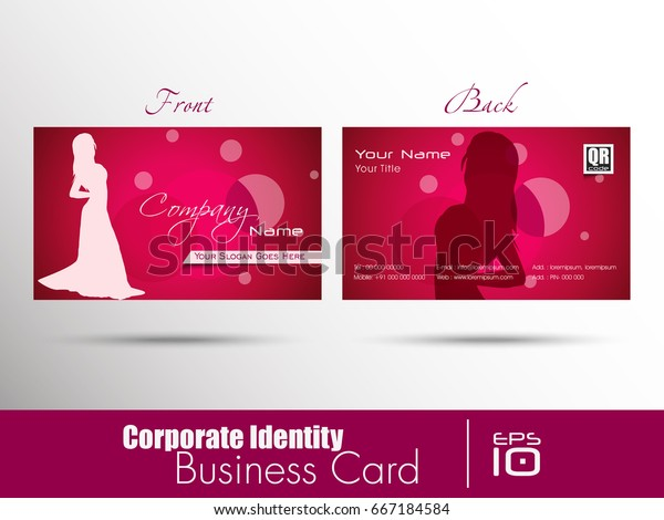 Corporate Identity Professional Designer Business Visiting Stock Vector Royalty Free 667184584