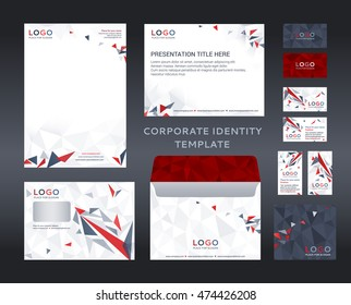 Letter head images stock photos vectors shutterstock corporate identity set in low poly style letter head design presentation template spiritdancerdesigns Choice Image
