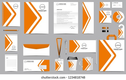 Corporate Identity Set. Stationery Template Design Kit. Branding Template Editable Brand Identity pack with abstract background for Business Company and Finance Vector eps 10