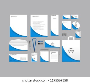 Corporate identity set template design. Stationery Branding blank template editable with logo abstract texture with white color background. vector company Business mockup eps 10