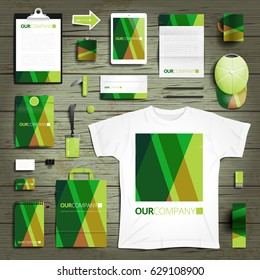 Corporate identity stationery objects print template. Vector illustration.