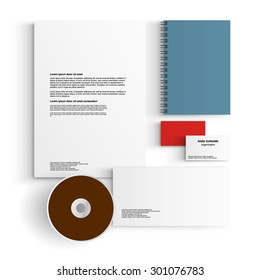 corporate identity template blank design