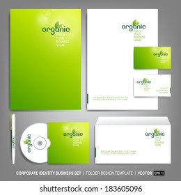 Corporate identity template for business artworks.  Vector Illustration
