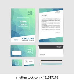 Corporate Identity Template. Business stationery