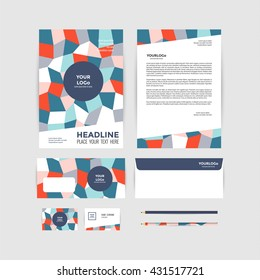 Complete set business stationery template such stock vector royalty corporate identity template business stationery friedricerecipe Images