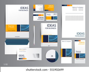 Corporate identity template design. Business stationery.