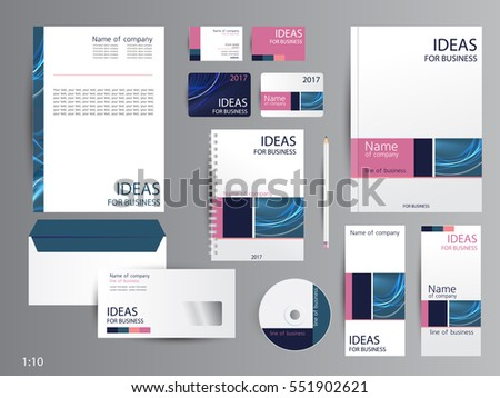 Corporate identity template design business stationery stock vector corporate identity template design business stationery friedricerecipe Choice Image
