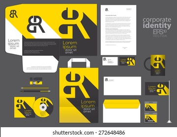 Corporate identity template design. Vector company style.
