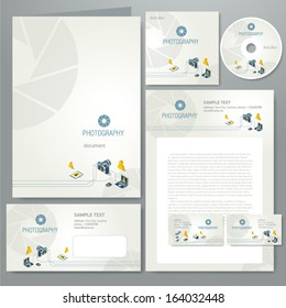 corporate identity template photography element photo camera professional icons