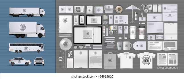 Corporate identity template set. Branding design. blank template. Business stationery mock-up. large collection.transport