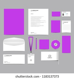 Corporate identity template set design. blank template editable. vector company Business Stationery branding mockup eps 10