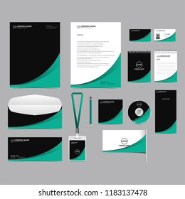Corporate identity template set design. blank template editable with logo abstract texture background. vector company Business Stationery branding mockup eps 10