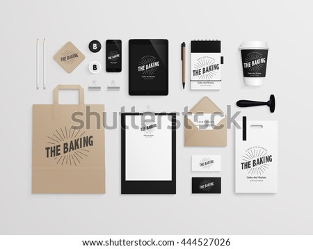 corporate identity template set logo sample stock vector royalty
