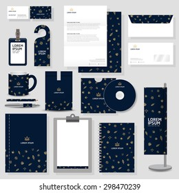 corporate identity template Stationery design set in vector format