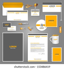 Corporate identity template. Vector company style for brandbook and guideline. EPS 10