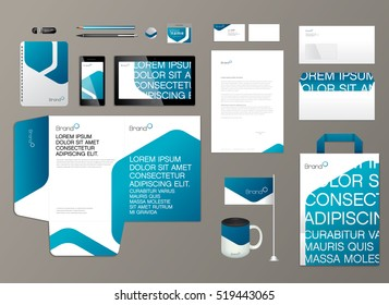 Corporate identity template. Vector illustration.