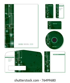 Corporate Identity Template Vector - letterhead, business and gift cards, cd, cd cover, envelope. Eps10.