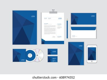 corporate identity template for your business includes CD Cover, Business Card, folder, Envelope and Letter Head Designs