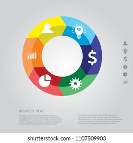 Corporate info graphic design