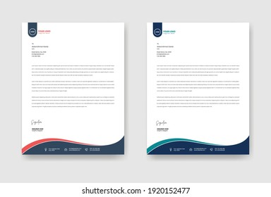 Corporate letter head template. Vector illustration EPS 10