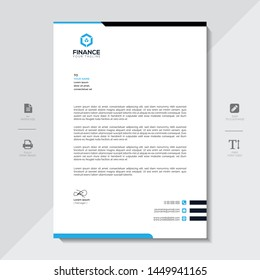 Corporate Letterhead Template Abstract Design