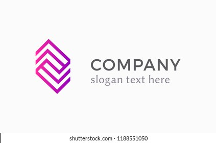 Corporate logo in linear style