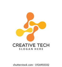 Corporate logo template design in vector with innovate. Modern corporate logo design.