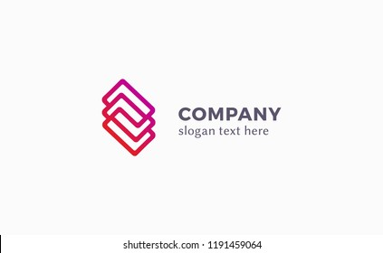 Corporate logo vector in linear style
