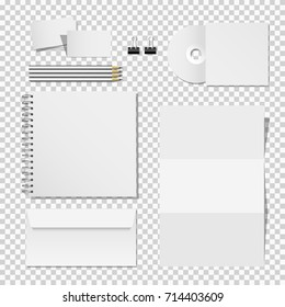 Corporate mockup set of printing materials template for business identity. Vector elements office supply design for branding identity