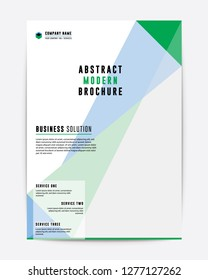 Corporate Ofiice Business Brochure Flyer Annual Report Green Color