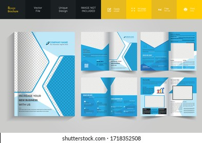 Corporate pages brochure template design