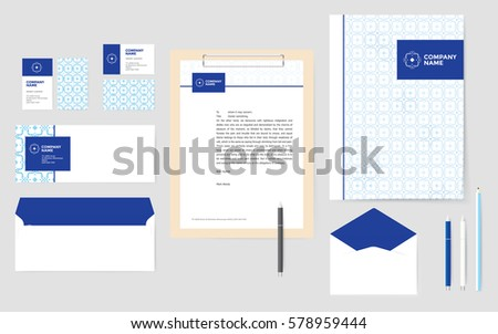corporate pattern stationary design business stock vector royalty