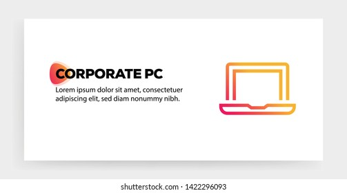 CORPORATE PC AND ILLUSTRATION ICON CONCEPT