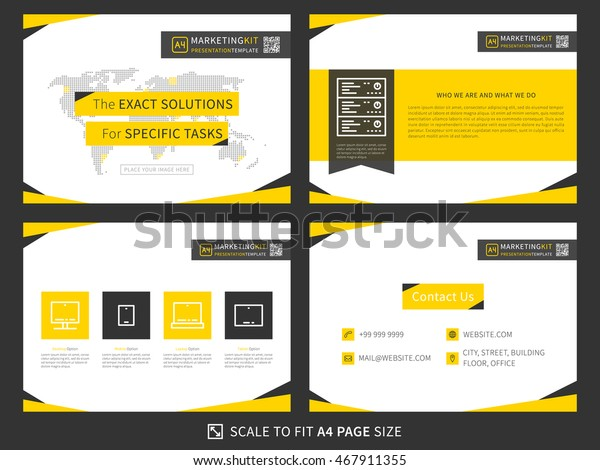 стоковая векторная графика Corporate Presentation Vector