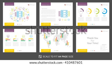 corporate presentation vector template modern business のベクター