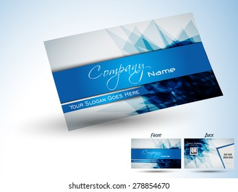 Corporate professional designer business or visiting card set. Vector abstract creative business cards...