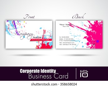 Corporate professional designer business or visiting card set. Vector abstract creative business cards.