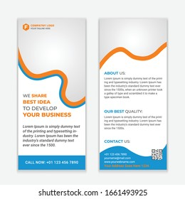 Corporate Rack Card and Dl Flyer Design.