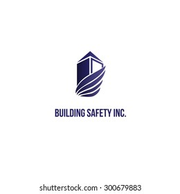 Corporate safety building blue logo design