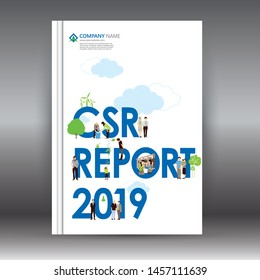 Corporate Social Responsibility Report 2019.  Think Green. Global sustainable goals. Book, Magazine, Banner, Poster, & Annual report design.