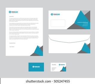 corporate stationery template design